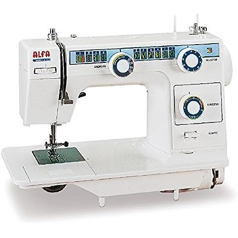 Alfa Modelo 393 - Máquina de coser de mesa con 23 puntadas, color blanco