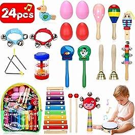 Jojoin Strumenti Musicali Bambini, 25 Pezzi Percussioni per Bambini con Borsa, La Maggior Parte dei