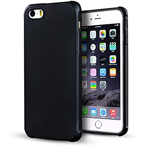 iPhone 5 Funda,iPhone 5s Funda,iPhone Se Funda,Lizimandu Protectiva Carcasa de Silicona de gel TPU Transparente, Ultra delgada, Resistente a los arañazos en su parte trasera, Amortigua los golpes Case Cover Para apple iphone