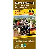 Wanderkarte Saar-Hunsrück-Steig1: mit Ausflugszielen, Einkehr- & Freizeittipps, Entfernungen, Etappen, Höhenprofile, wetterfest, reissfest, abwischbar, GPS-genau. 1:25000