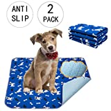 Yangbaga Puppy Training Pad - 2 Pack Washable Anti-Slip Reusable Super Absorbency Quick-Dry
