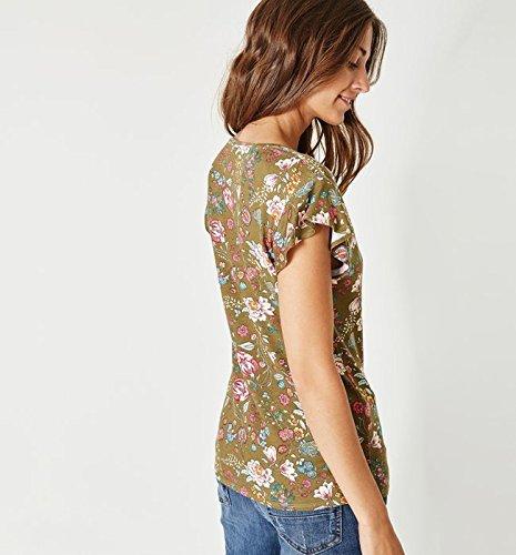 Promod T-Shirt mit Volantärmeln Bunt gemustert