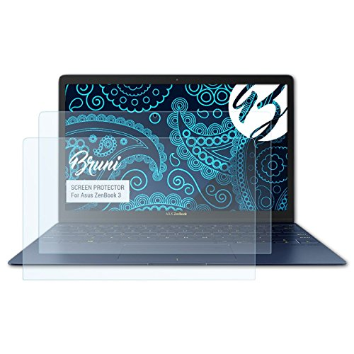 Bruni Schutzfolie für Asus ZenBook 3 Folie, glasklare Displayschutzfolie (2X)