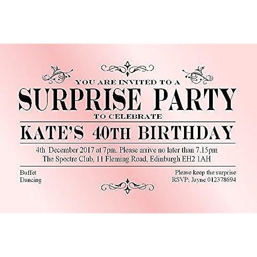 surprise birthday invitations uk