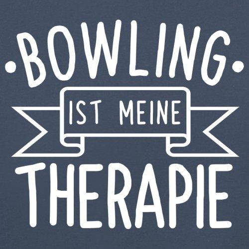 Bowling ist meine Therapie - Damen T-Shirt - 14 Farben Navy
