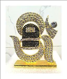 Shraddha Shree Gems Hindu God Statue Dashboard God Idol Home Decor Gift Item Sculpture Gold Plated God Idols, Religious God Statues, Hindu God Idols