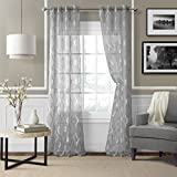Best Home Fashion Sheer Curtains - Elrene Home Fashions 026865853933 Grommet Sheer Ironwork Jacquard Review