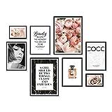 ARTFAVES Poster Set - Coco | 8 Wandbilder Premium Mix | Ästhetische Motive & Sprüche | ohne Rahmen