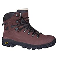 Mountain Warehouse Excalibur Mens Waterproof Boots - Breathable Walking Shoes, Leather Upper, Vibram Sole Hiking Boots, Antibacterial -for Travelling & Walking