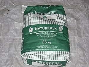 brannt calcaire Poudre 25kg 77% Calcium oxyde