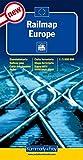 Railmap Europe 1 : 5 000 000 (Kümmerly+Frey Thematische Karten, Relief) - Kümmerly + Frey