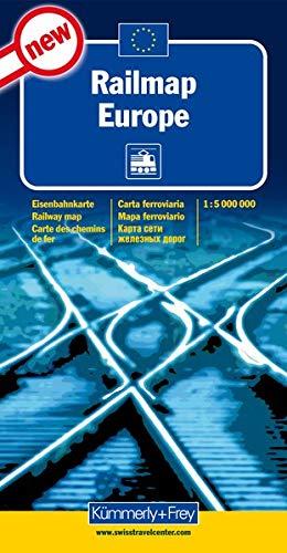 Railmap Europe 1 : 5 000 000 (Kümmerly+Frey Thematische Karten, Relief)