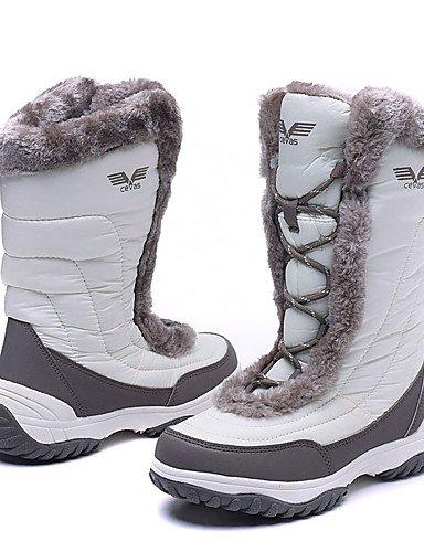 CU@EY Da donna-Stivaletti-Tempo libero-Stivali da neve-Piatto-Spandex Fabric / Pelle di maiale-Nero / Rosa / Bianco white-us8.5 / eu39 / uk6.5 / cn40