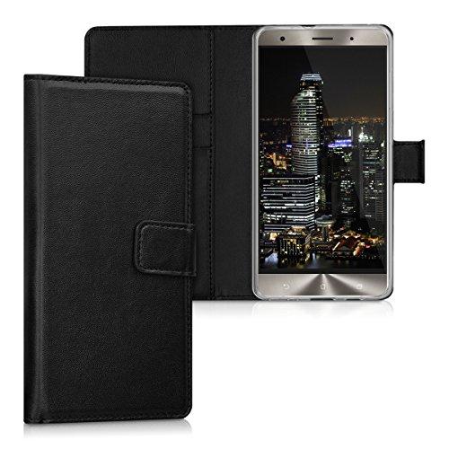kwmobile ASUS Zenfone 3 Deluxe ZS570KL Hülle - Kunstleder Wallet Case für ASUS Zenfone 3 Deluxe ZS570KL mit Kartenfächern und Stand