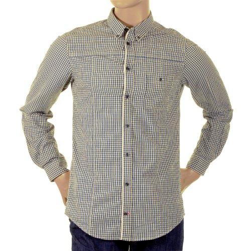 BOSS Hugo Shirt Orange Label Enduro 50151120Check Shirt. boss0719 Gr. X-Large, Blue/Cream -