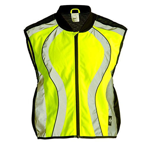 BTR High Visibility Reflective Gilet. Vest / Sash is suitable for running, cycling, motorbikes, horse riding, safety work wear & more (Large)