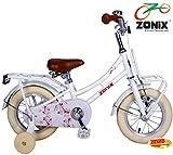 Zonix Mädchen Hollandrad Pastellweiß 12 Zoll mit Frontträger