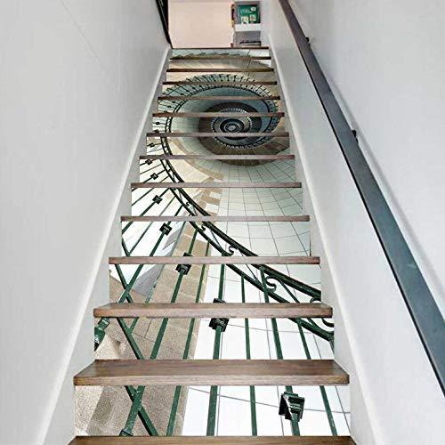 Pegatinas Para Escaleras Adhesivos Creativos Para Escaleras Adosados Sencillos En 3D Para Escaleras De Caracol Adhesivos Decorativos Escalonados
