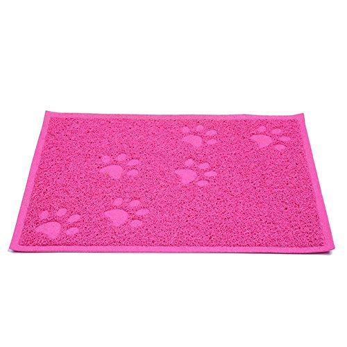 Leicht zu reinigen Rechteck Pet Dog Cat Feed Pad Wasserdicht langlebigem rutschfest Garbage Trap Matte für Haustiere, 1Stück (Pet Feed Matte)