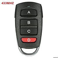 Tiptiper 433mhz Electric Garage Door Car Remote Control Key Replacement