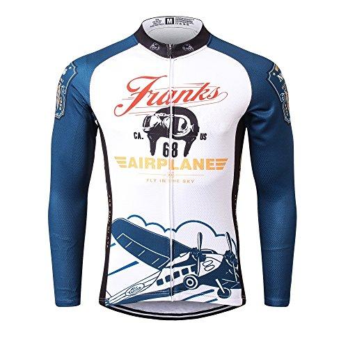 Thriller Rider Sports® Herren Franks Airplane Sport & Freizeit MTB Fahrradbekleidung Radtrikot Langarm 3X-Large (Rider Herren Sport Hose)