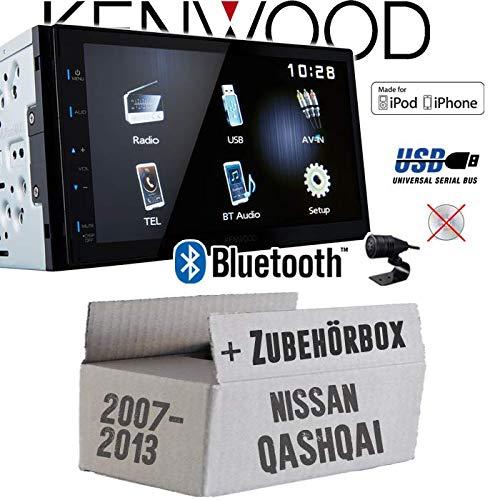 Autoradio Radio Kenwood DMX110BT - 2DIN Bluetooth | USB | MP3 | 7\' TFT Einbauzubehör - Einbauset für Nissan Qashqai (J10) bis 2013 - JUST SOUND best choice for caraudio