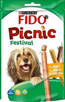 Fido Picnic Festival : au B½uf, au Poulet, à l'Agneau - 126 g - Friandises pour Chien - Lot de 8