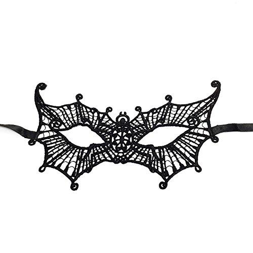 Cdet 1x Spinne Augenmaske Spitze Hollow Maske Halloween Masken Masquerade Maske Karneval Kostüm Masken Maskentanzabend Party Foto Zubehör