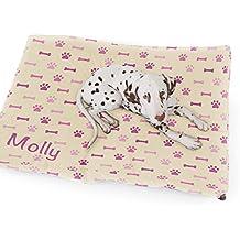 rucomfy Bean bags - Cama para Perro, diseño de Huesos y Patas, Color Crema