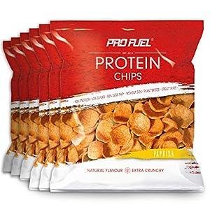 PROTEIN CHIPS   6 x 50g Packung   42% Protein   60% weniger Fett*   Ohne Soja...