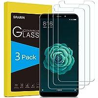 SPARIN [3 Pack] Cristal Templado Xiaomi Mi A2/6X, Protector Pantalla Xiaomi Mi A2/6X Vidrio Templado con [2.5d Borde Redondo] [9H Dureza] [Alta Definicion] para Xiaomi Mi A2/6X