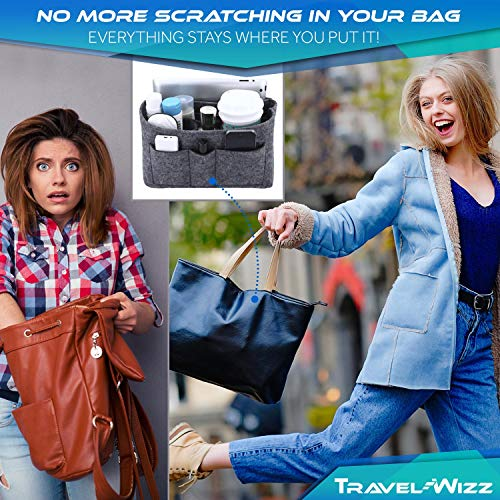 Handbag Organiser - 2in1 Bag Tote Insert with Waterproof Pocket