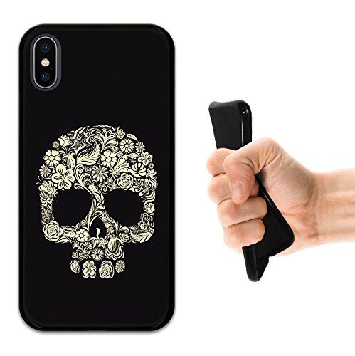 iPhone X Hülle, WoowCase Handyhülle Silikon für [ iPhone X ] Schädel Raiders Dangerous Handytasche Handy Cover Case Schutzhülle Flexible TPU - Transparent Housse Gel iPhone X Schwarze D0181