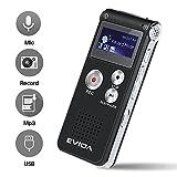 Covvy Enregistreur vocal numérique portable Enregistreur audio Son...