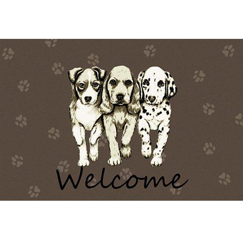 Felpudos Perros con diseño de Galería de perros Welcome 44 x 67 cm