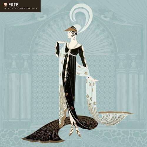 Erté 2015 Calendar: With Glittered Cover