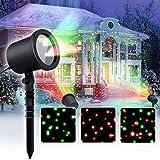 COOWOO Projektor-Licht für Innen und Außen, 6 Modi wählbar, statisch, blinkend, nur grün, rot, nur für Party, Hochzeit, Rasen und Weihnachtsdekoration, Timing-Funktion