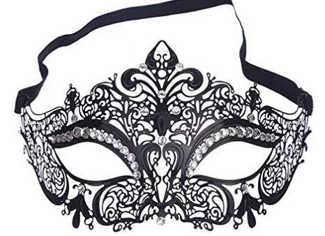 Kostüm Tanz Designs Strass - ANGAZURE-DE Maske Damen Metall Venezianischen Maskerade Prinzessin Party Metal Maske