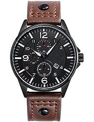 Montre Pour Homme Sport Ceinture Style Montre à Quartz Montre Bracelet Horloge à Double Bracelet En Cuir