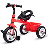 R for Rabbit Tiny Toes - The Smart Plug and Play Baby Tricycle for Baby/Kids (Red)