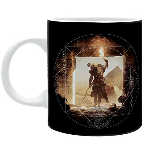 Assassins Creed Origins - Keramik Tasse - Pyramids - Logo - Geschenkbox (Origin Kostüm)