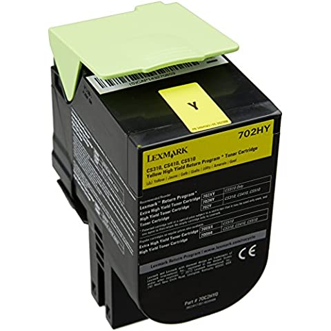 Lexmark 70C2HY0 - Tóner, capacidad 3000 páginas, color amarillo