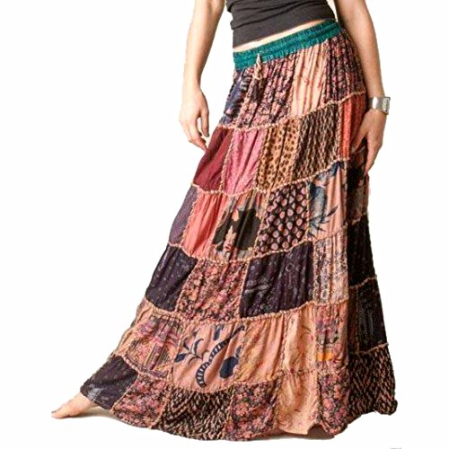 1 Tribal Gypsy Maxi Hippie Rock Bauchtanz Röcke Banjara NEUE PATCHWORK (Arabian Dance Kostüme)