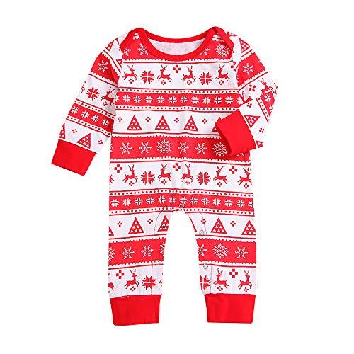 sunnymi 0-24 Monate Xmas Baby Mädchen Jungen Strampler Hirsch Overall Outfit Kleidung