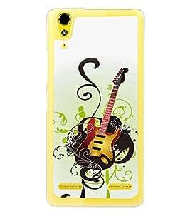 Fuson Designer Back Case Cover for Lenovo A6000 Plus :: Lenovo A6000+ :: Lenovo A6000 (Guitar Electrical Guitar Black Guitar guitar With Strings Black electrical guitar)