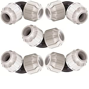 STP fittings 08399220 - Set di giunti a gomito per tubi in polietilene da 20 mm