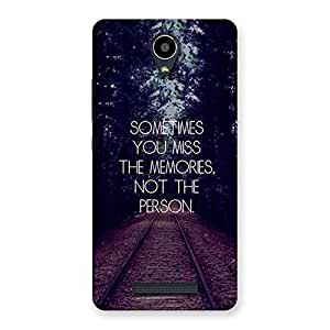 Neo World Miss the memories Back Case Cover for Xiaomi Redmi Note 2