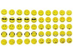 magnete smile emoji emoticon 50 st ck im set 10 verschiedene designs k hlschrankmagnete. Black Bedroom Furniture Sets. Home Design Ideas