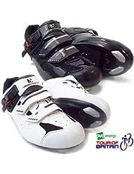 VeloChampion Zapatillas de ciclismo Elite Road (par) Cycling Road Shoes White/Black 46