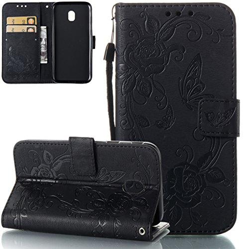 Nnopbeclik Samsung Galaxy J5/J530 2017 5.2 Zoll Europäisches Modell Flip Case Schutzhülle, Anti-Rutsch Soft TPU + PU Ledertasche mit Standfunktion für Samsung Galaxy J5/J530 2017